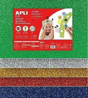 APLI Kids 13436-Goma EVA purpurina multicolor 600 x 400 mm 5