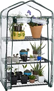 Pure Garden 3 Tier Mini Greenhouse with Cover 27.5 x 19 x 50 inches