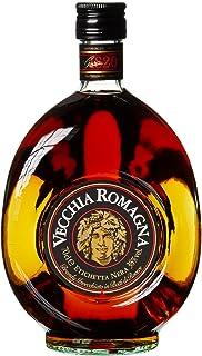 Vecchia Romagna Etichetta Nera - Italienischer Weinbrand, der nach einem Verfahren mit doppelter Destillation und doppelter Reifung hergestellt wird, mit ausgeprägtem und elegantem Geschmack. 70cl