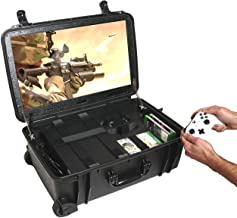"""Case Club Waterproof Xbox One X/S Portable Gaming Station with Built-in 24"""" 1080p Monitor, Storage for Controllers, Games,..."""