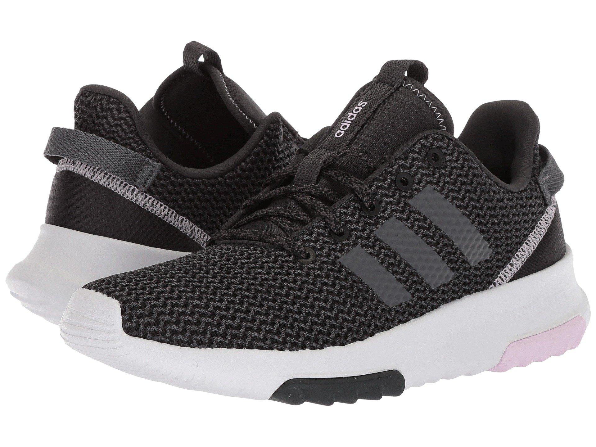 Adidas originali cloudfoam racer tr, carbonio / grigio 5 / aero modesens rosa