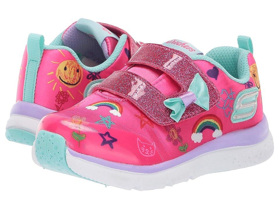 SKECHERS KIDS Jump Lites 82140N (Toddler/Little Kid) (Hot Pink/Multi) Girl