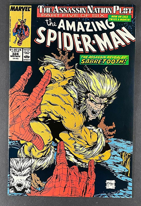 Amazing Max 45% OFF Spider-Man free 1963 #324 VF NM Todd 9.0 M App Sabretooth