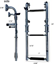 Pactrade Marine Boat Three Steps Foldable Ladder, Stainless Steel, Luxury