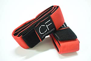 crayfomo 10 Legged Race Bands Outdoor Game for Kids Adults Birthday Team Party Games with Carry Bag (Red, 10 People)