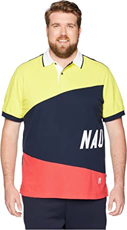 Big & Tall Sail Flag Pieced Polo