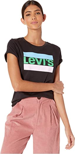 54aafcf9 Levis womens 3 4 sleeve sporty tee | Shipped Free at Zappos
