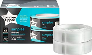 Tommee Tippee Simplee Diaper Pail Refill Cartridge - 180 Count per Pack - 2 Pack