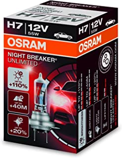 OSRAM Night Breakers Unlimited Super White Bulb Halogen Lamp H7 (1 Pack) (H7
