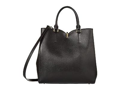 Furla Ribbon Large Tote (Nero) Handbags