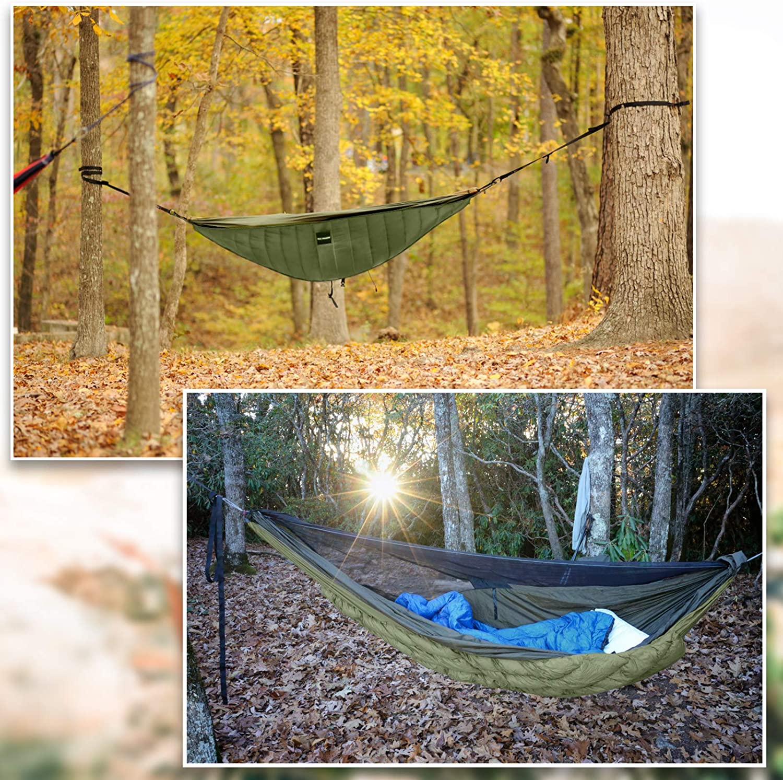 KING SHOWDEN Hammock Underquilt Lightweight Under Quilt Winter Hammock Underquilt Outdoor Camping Ultralight Underquilt Keep Your Warmer Portable Quilt for Hammock