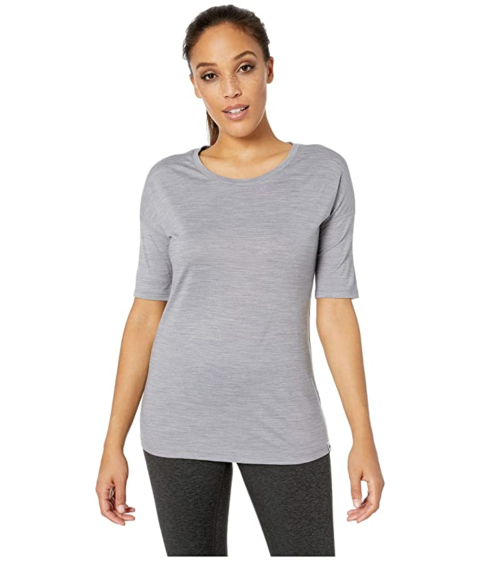 Smartwool Merino Sport 150 Short Sleeve (Light Gray Heather) Women