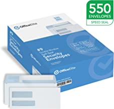 #9 Double Window SELF SEAL Security Envelopes - 550 Per Box - Designed for QuickBooks Invoices, Business Correspondence, and Legal Documents - Security Tinted - Peel & Seal - 3 7/8