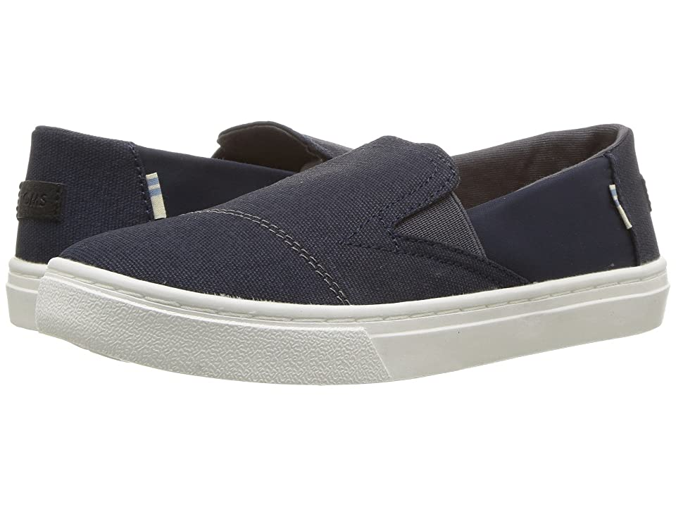 TOMS Kids Luca (Little Kid/Big Kid) (Navy Nylon/Textural Canvas) Kid