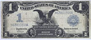 1899 Black Eagle Silver Certificate One Dollar Note Blue Seal $1 Very Fine #58
