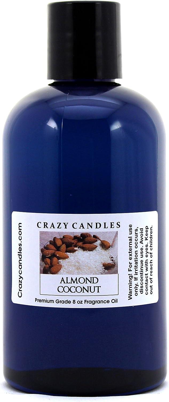 Crazy Candles 8oz Almond Coconut 8 Fl Oz 超定番 新入荷 流行 Premium 237ml Bottle