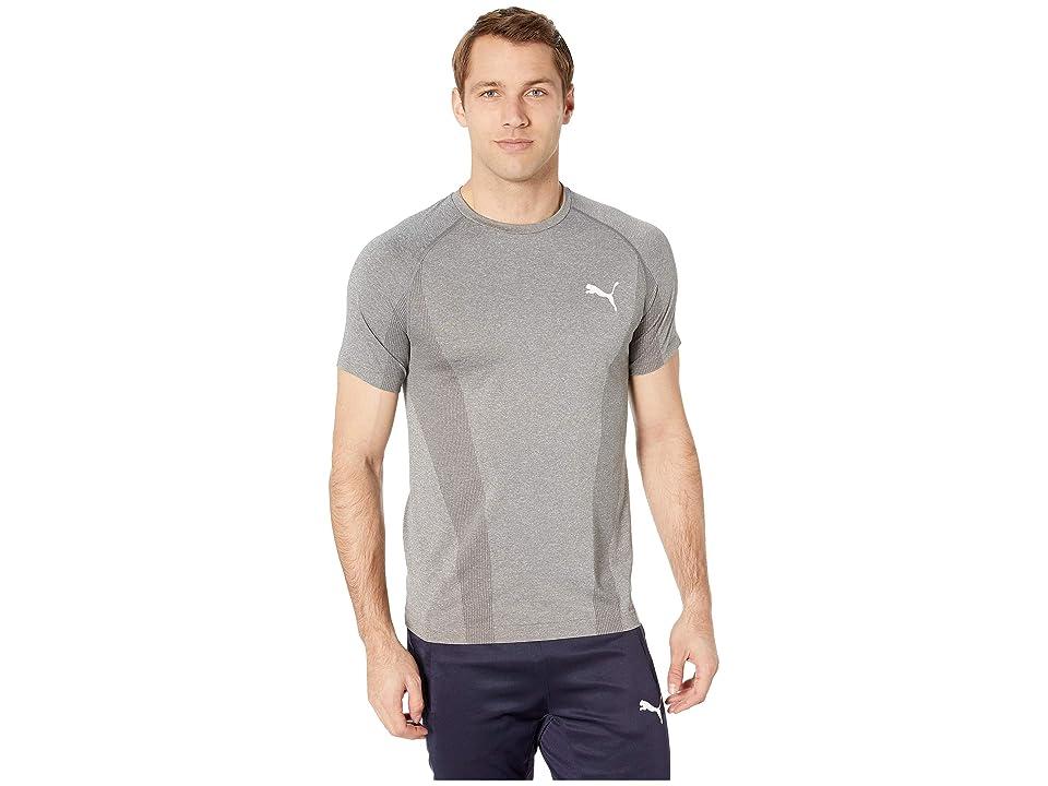 PUMA Evoknit Basic Tee (Medium Grey Heather) Men's T Shirt, Gray