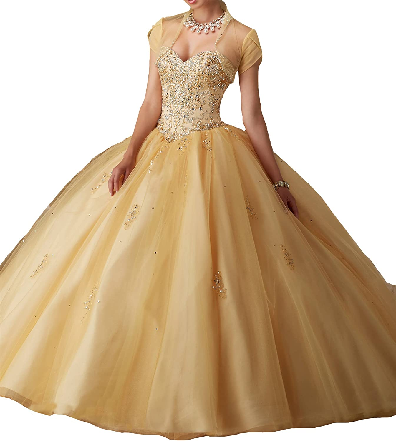 TuanYuan Women Sweetheart Vestidos DE 16 Royal Gowns Quinceanera Dresses