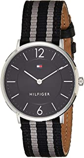 Tommy Hilfiger Men's Quartz Watch, Analog Display and Leather Strap 1791329