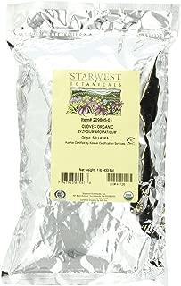 Starwest Botanicals Organic Cloves Whole, 1-pound Bag