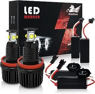 Win Power H8 40W LED Faros Angel Eyes para coche CREE CanBus No hay error Auto Bombillas Luces de posición Ojos de Angel 6000K Xenon Blanco E82 E87 E90 E91 E92 E93 E60 E61 E64 E70 E71 E89, 2 Piezas