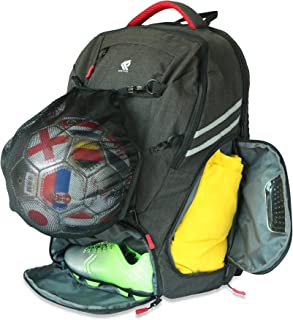 RitzKitz The Ultimate Sports Bag   Backpack for Soccer, Basketball, Football, School, Gym, Travel   Separate Ball, Shoe, L...