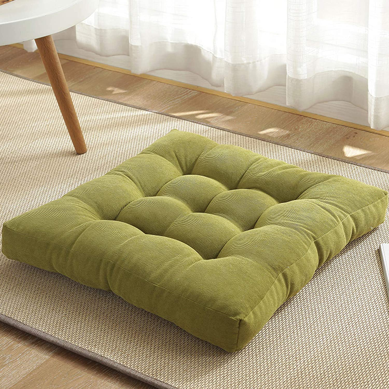 ADSIKOOJF Solid Square Seat shop Cushion Floor Pillow Tufted Financial sales sale Thicken