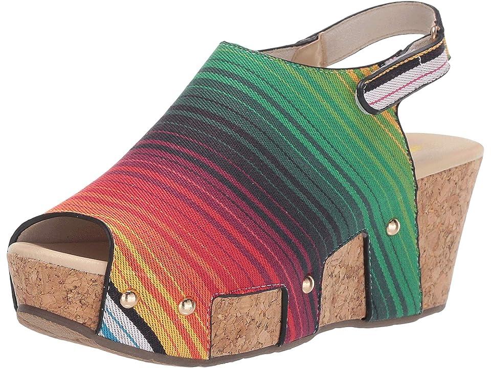 VOLATILE Daiquiri (Serape) Women's Wedge Shoes, Multi