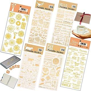Stickers Deco Vintage Auto Adhésif 6 feuilles Lettres Autocollants 3D Chiffres Papillon Femme Autocollants De Scrapbooking...
