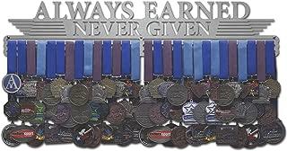 Allied Medal Hangers - Always Earned Never Given (Compact) - Multiple Medal Holder Display Rack