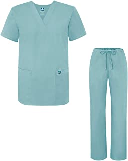Adar Universal Medical Scrubs Set Medical Uniforms - Unisex Fit (45 colors)