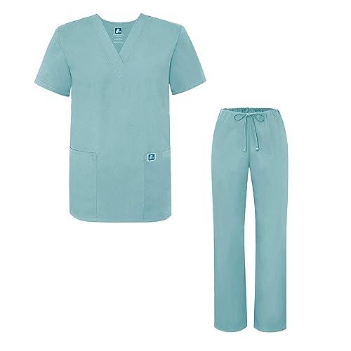 360427b8ab6 Adar Universal Medical Scrubs Set Medical Uniforms - Unisex Fit (45 colors)
