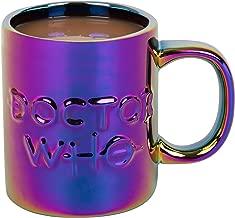 Doctor Who Ceramic Coffee Mug - Iridescent Metallic Holographic Finish with Dr. Who Logo - 11oz 11oz