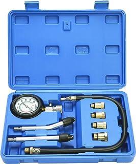 8MILELAKE Professional Auto Petrol Gas Engine Cylinder Compression Tester Gauge Kit with Case
