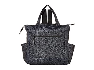 Baggallini Packable Backpack Tote (Midnight Blossom) Backpack Bags