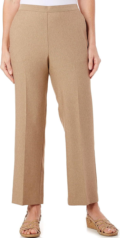 Alfred Dunner Womens Plus Herringbone Flat Front Pants