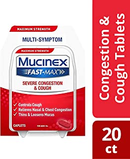 Mucinex Fast-Max Severe Congestion & Cough Caplets, 20ct