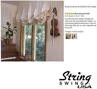 String Swing CC01V-C Hardwood Home & Studio Wall Mount Violin Hanger - Cherry