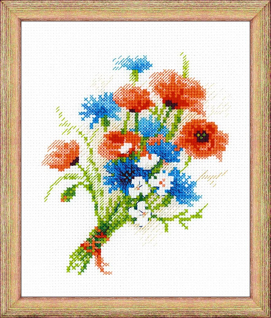 RIOLIS 1576-Bouquet with Cornflowers-Cross Stitch Kit 6
