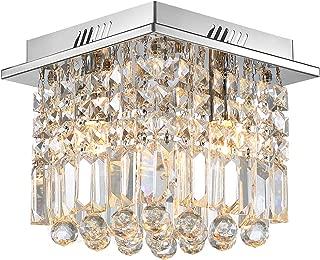 Crystal Ceiling Light Modern Square Chandelier Lighting for Hallway Entrance W10