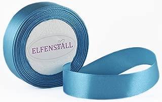 Elfenstall Satinband Geschenkband Schleifenband Dekoband 25 mm, 25 Yards ca. 22 Meter in der Farbe petrol blau