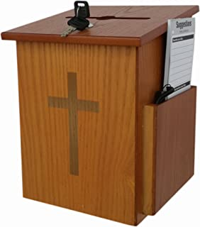 FixtureDisplays Church Collection Fundraising Box Suggestion Box Donnation Charity Box 10885