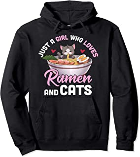 Juste une fille qui aime les ramen et les chats japonais Sweat à Capuche