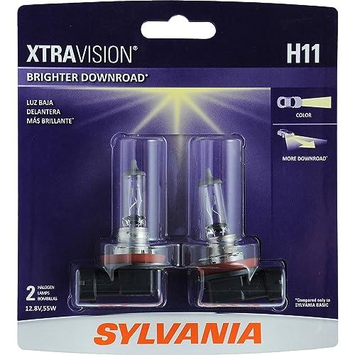 SYLVANIA H11XV.BP2 XtraVision Halogen Headlight Bulb, (Contains 2 Bulbs)