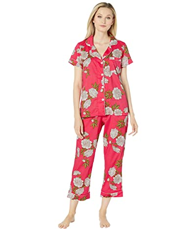 BedHead Pajamas Short Sleeve Cropped Pajama Set (Hermosa Bloom) Women