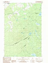 YellowMaps Hurricane Pond ME topo map, 1:24000 Scale, 7.5 X 7.5 Minute, Historical, 1989, Updated 1989, 26.8 x 21.5 in