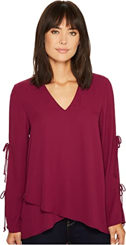 Karen Kane - Double Tie Wrap Top