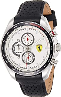 Ferrari Unisex-Adult Quartz Watch, Analog Display and Leather Strap 830651