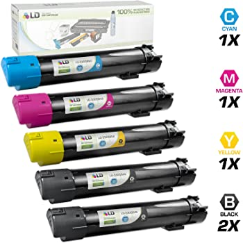 330-5839; Models: 5130 330-5852 Replacement for Dell 5130H Bulk: CD5130H 5130CDN Myriad Compatible Assorted Toner Cartridges Hi-Yield; Asst Colors BCMY Ink 8 Assorted Toner Cartridges
