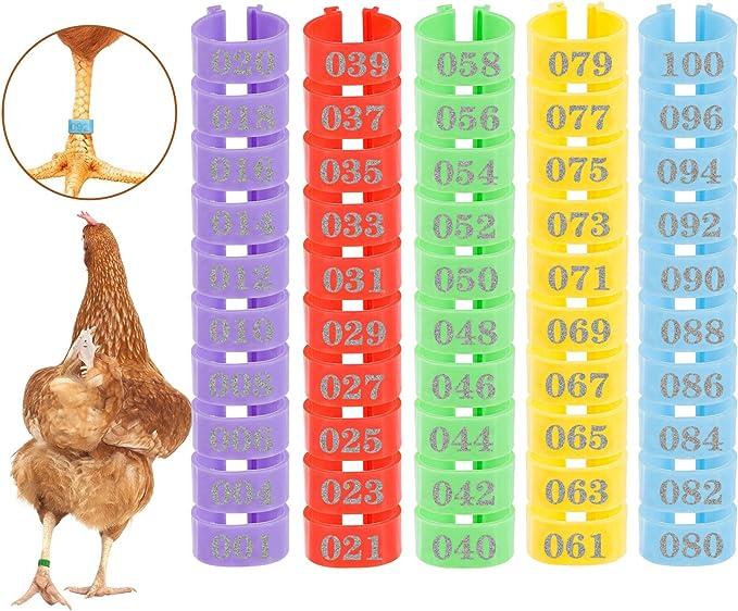 Handling Supplies Leg Bands NOT STAMPED Aluminum Chicken Pheasant ...